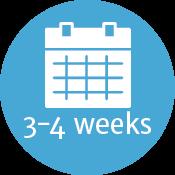 3-4 weeks
